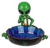 MIK Funshopping Außerirdischer Aschenbecher Alien Smoking (Alien sitzend mit Joint)