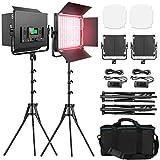 RGB LED Video Lighting Kit, Pixe...