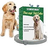 Collar Antiparasitario para Perros, contra Pulgas Garrapatas y Mosquitos, Ajustable a Prueba de Agua, para Pequeños Animales Domésticos de Tamaño Mediano