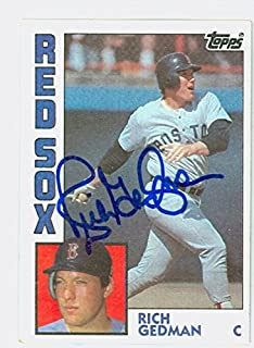 Rich Gedman AUTOGRAPH 1984 Topps #498 Boston Red Sox