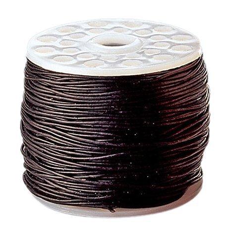 KnorrPrandell 2249180 leren riem, 0,5 mm diameter - 20 m, zwart