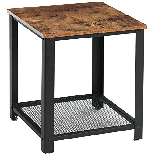 IBUYKE Side Table 45 x 45 x 55 cm, Industrial End table, Nightstand, Coffee Table, with Metal Frame, for Living room, Bedroom, Kitchen