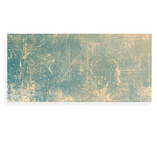 Banjado Wechselscheibe für IKEA GYLLEN Wandlampe | Glasscheibe für Wandleuchte 56x26cm | Echtglas Motiv Patina Grün | Querformat