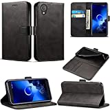 Alcatel 1 (5033X) Case, Leather Case Flip Folio Book Case