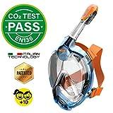 Seac Unisex-Youth Fun Vollgesichtsmaske Schnorchelmaske für Kinder 10+ und Erwachsene mit kleinen...