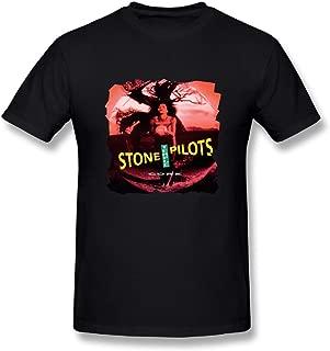 JohnHA Men's Stone Temple Pilots Core Fashion Tshirts Black