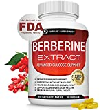 Berberine Extract 1200 mg HCl Complex - Premium Strength Berberine Plus to Support Immune Function, Blood Sugar Metabolism and Cardiovascular Health, for Men Women, 90 Capsules, Toplux Supplement