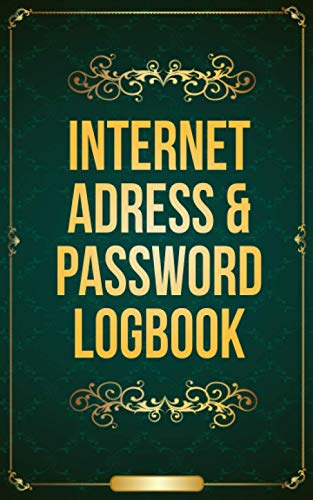 Internet adress and password logbook: Password book to remember all your credentials. Journal to write in with alphabetical tabs, username, password, email, and more. Small format, very practical.