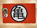 Pyramid Felpudo Turtle Gym Doormat Dragon Ball Official Merchandising Referencia DD Textiles del hogar Unisex Adulto, Multicolor, 40 x 60 cm