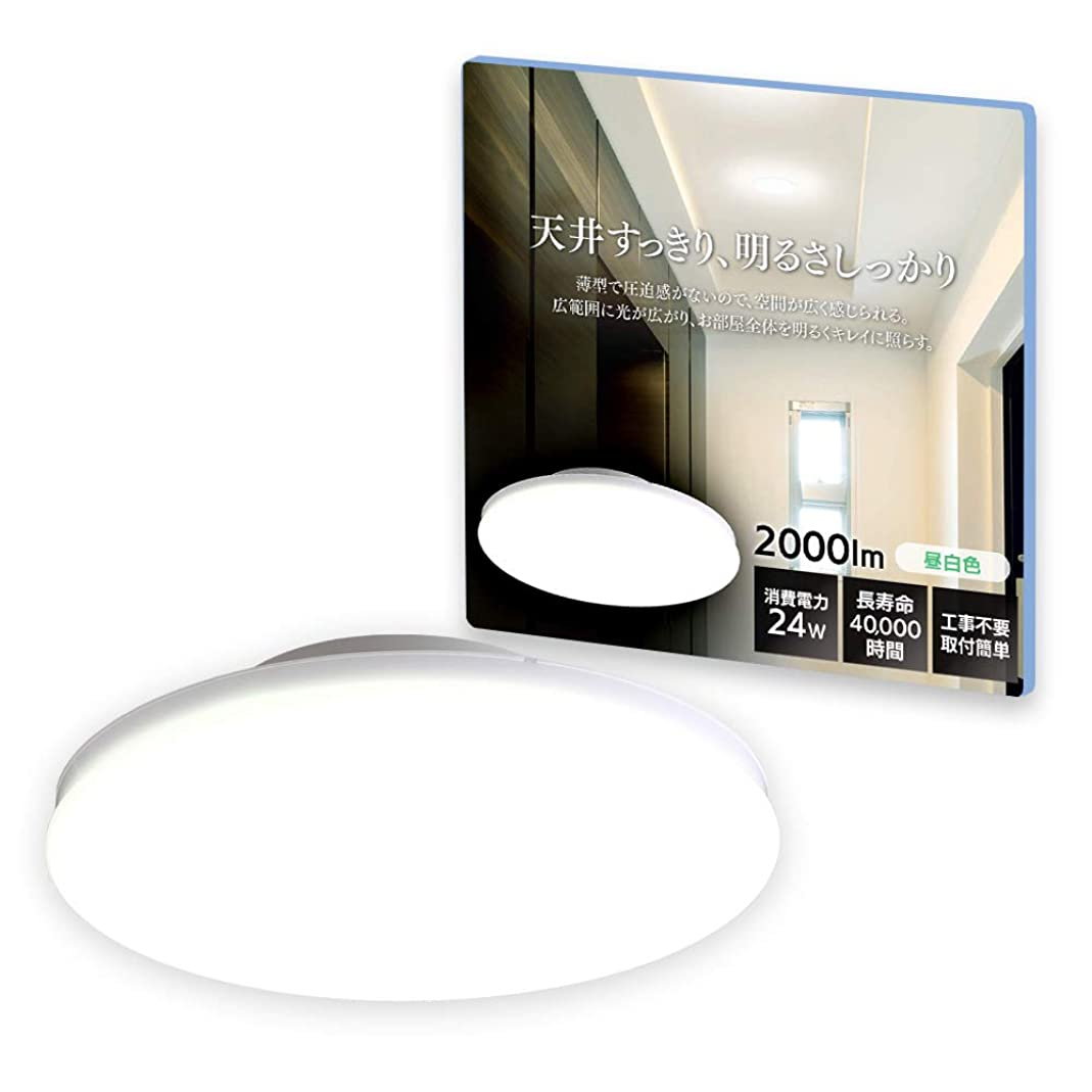 溶岩襟ルームアイリスオーヤマ LEDシーリングライト 小型 薄形 昼白色 2000lm SCL20N-UU