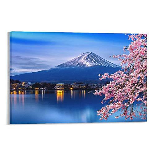 CHUNJIAN Landscape Poster Mount Fuji Poster Picture Print Wall Art Poster...