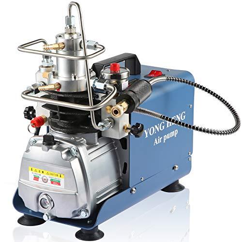 110V PCP Air Compressor, Pressure Preset, Auto-stop, High Pressure Air Compressor Water-Oil Separator Filtration, 30MPA 300BAR 4500PSI Air Compressor for Paintball, Scuba Tank