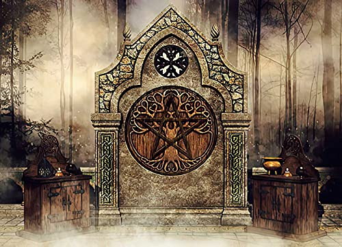 Diamond Painting Adult Painting Kits Fantasy Shrine a Celtic Altar Candles and Lanterns in The Home Bedroom Living Room Art Wall Decoration 16'x20'