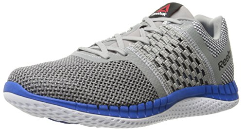 Reebok Men's Zprint Run Shoe, Black/Ash Grey/Pewter, 9.5 M US