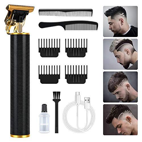 URAQT Haarschneide, Profi Haarschneidemaschine Herren Haartrimmer Bartschneider Barttrimmer Präzisionstrimmer Langhaarschneider für Männer, Gold