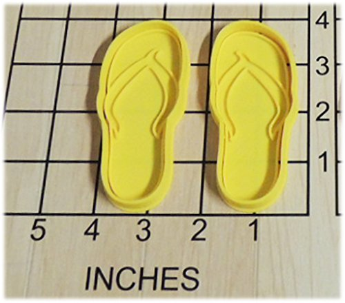 Beach Flipflop Shaped Cookie Cutter and Stamp #1259