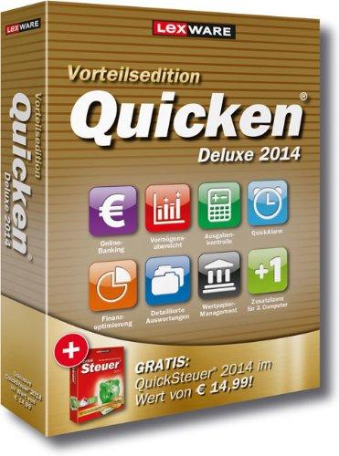 Lexware Quicken Deluxe 2014 Vorteilsedition - Ihr persönlicher Finanzmanager (Version 21.00) inkl. QuickSteuer 2014