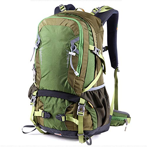 ZJML Outdoor Backpack 35L, Hiking And Cross-Country Backpack with Rain Cover, Men And Women Camping, Outdoor Adventure Travel And Cycling Backpack