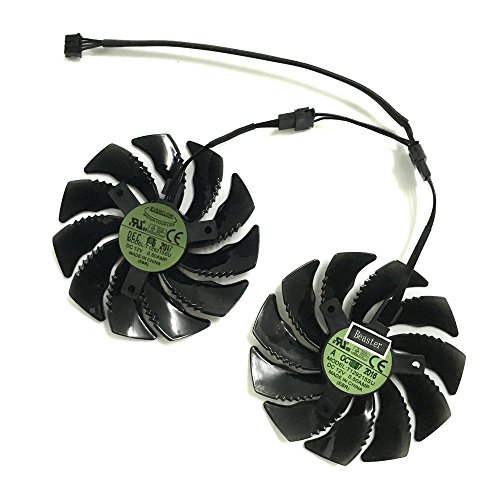 iHaospace 2 Pcs/Lot T129215SU Graphics Card Fan for GIGABYTE GTX 1050Ti 1060 1070 RX 470 480 570 580 R9 380X