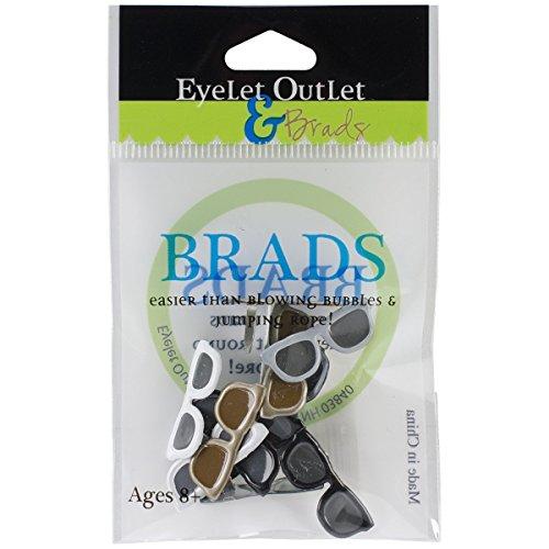 Eyelet Outlet Shape Brads-Sunglasses Dark