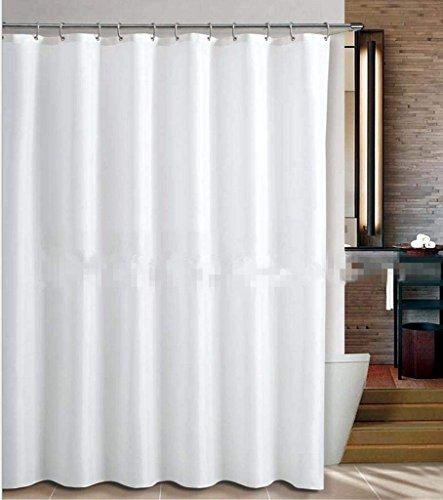 ZTMN Polyester reinweiß Duschvorhang Bad abgeschnitten Hängender Vorhang Verdunkelungswasserabweisender antibakterieller Duschvorhang, breit 1,8 * hoch 2