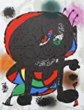JOAN MIRO Litografia III - Litografía (13 x 9,75 pulgadas, surrealismo), multicolor