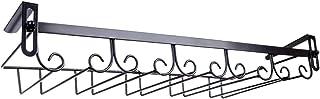 Tosbess Soporte para Copas de Vino - Soporte de Acero para Colgar Copas en la Cocina, Bar o Restaurante - Organizador cocina con rieles 5,50×22,5×6cm