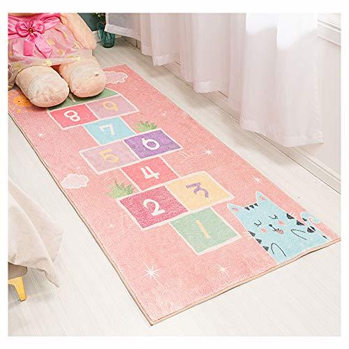 HUMASOL Ultra Soft Fluffy Area Rug Cute Hopscotch Printed Living Room Carpet for Living Room, Play Room, Kids Bedroom, Nursery Home Decor Pink 31.563