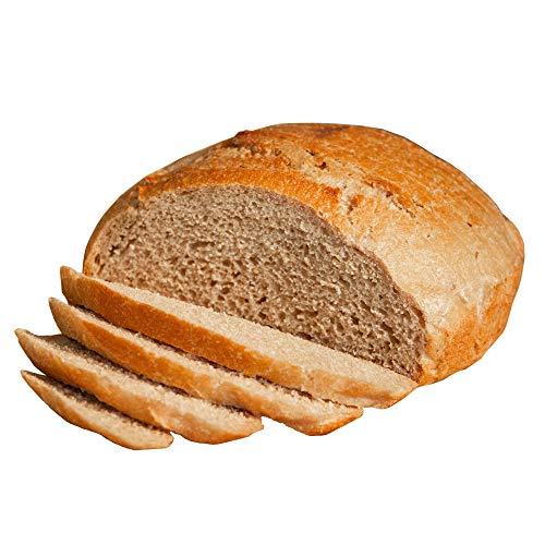 Fresh Sourdough Bread – San Francisco Bakery Style Dutch Oven Rustic Wheat – Hand-made & Whole Grain – 3 Ingredient – 1 Sliced Artisan Round 34 oz
