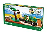 BRIO World - 33720 Safari Railway Set | 17 Piece Train Toy with Accessories and Wooden Tracks for Kids Ages 3 and Up