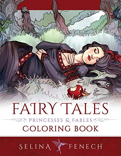 Fairy Tales, Princesses, and Fables Coloring Book (Fantasy Coloring)