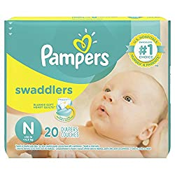 in budget affordable Pampers Swaddler Diaper Size N20 / 2 packs (40 Pampers in total)