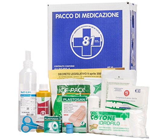 KIT reintegro allegato 2 pacco di medicazione per cassetta medica primo pronto soccorso per aziende fino a 2 lavoratori.
