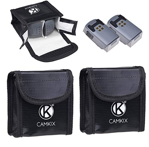 Explosiebestendig LiPo Batterij Tas voor DJI Mavic Pro - 2 Pack - Brandwerende Veiligheid en Opslag Tas - Voor Veilig Opladen en Vervoer - Tot 4 Mavic Batterijen - Ideale Vliegtuig Hand Bagage Oplossing, 4 Spark Batteries, for DJI Spark