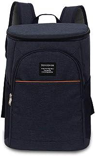 FengHui 18L refrigerador aislado caja de almuerzo del bolso del almuerzo grande enfriador mochila bolsa Azul, valor: Azul