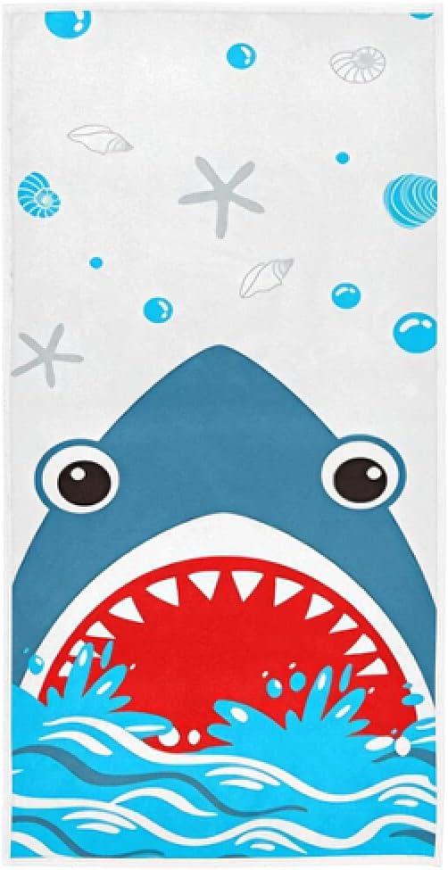 Sea Shark Hand Towel free shipping Sets Blue Animal Towels Popular Cotto Dish Starfish