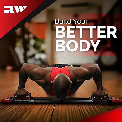 Iron Chest Master Push Up Machine - The Perfect Chest Workout Equipment for Home Workouts - Exercise Equipment Includes Resistance Bands and Unique Fitness Program for Men and Women