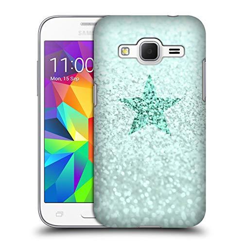 Head Case Designs Licenza Ufficiale Monika Strigel Menta Peperina Stella Pastello Glitter Cover Dura per Parte Posteriore Compatibile con Samsung Galaxy Core Prime