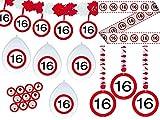 Unbekannt Partyset 16. Geburtstag Dekoset Dekobox - Verkehrschild - Girlanden, Luftballons
