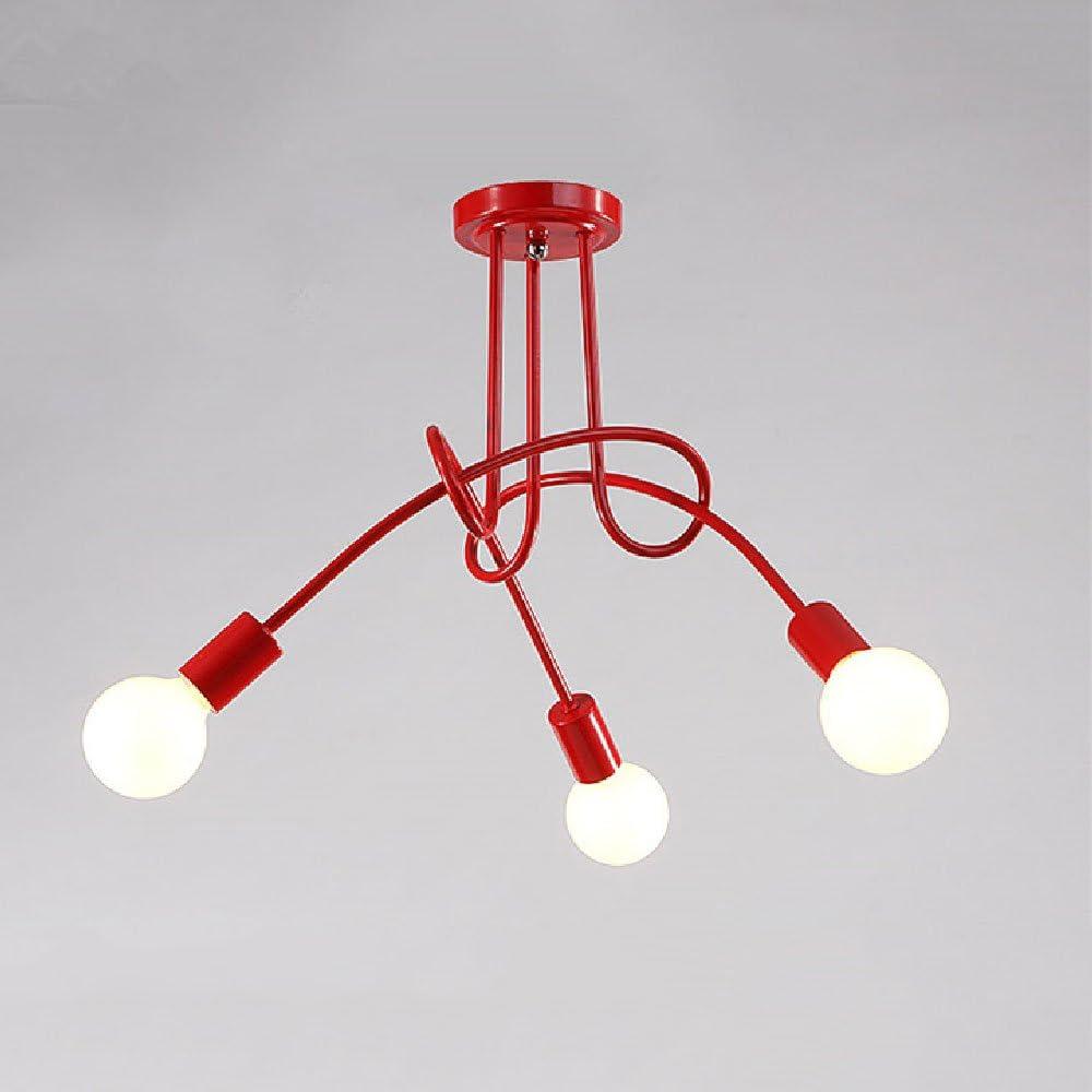 Crayom,lampadario semplice da soffitto,in ferro leggero C1547