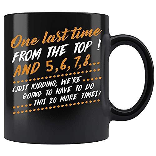 Una última vez desde la cima y 5 6 7 8 Taza de té de cerámica bailando Taza de té
