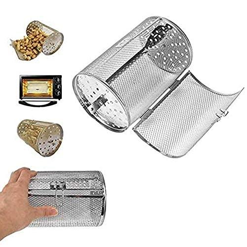 KDOI Rotisserie-Korb, 14 x 18 cm, Stahlofen, Bratkorb, Backkäfig für BBQ, Grill, Backwaren, Werkzeug, Luftfritteuse, Grill