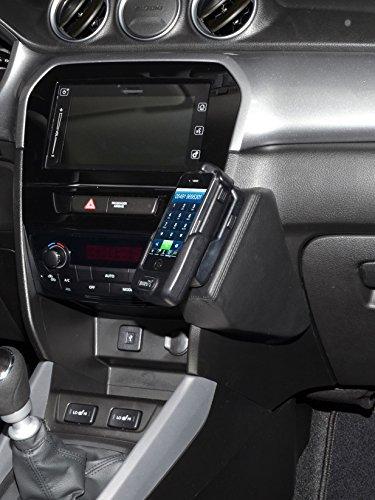 KUDA 2040 Halterung Echtleder schwarz für Suzuki Vitara (LY) ab 2015