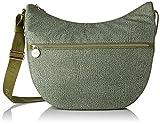 Borbonese Luna Bag Medium, Borsa a Tracolla Donna, Verde (Verde Militare/Verd), 35x38x15 cm (W x H x L)