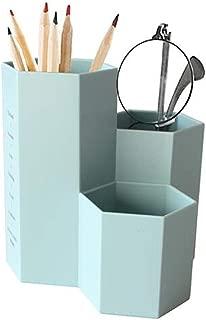 DKX Stationery Creative Simple Pen Holder Plastic Desktop Storage Box Student Office Supplies (Color : Blue)