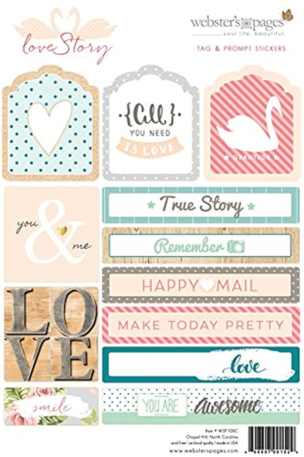 Webster's Pages 'Love Story' Tags and Prompt Stickers (WSP108C)