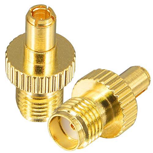 YILIANDUO SMA-TS9 Adapter SMA Buchse auf TS9 Stecker vergoldet RF Koaxial Adapter Gerader Anschluss für 4G LTE Antenne Netgear Hsdpa Huawei 4G Routeur 2er Pack