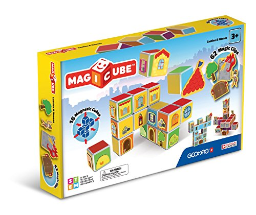 Geomag 144 Magiccube Castles & Homes Konstruktionsspielzeug, 80 Teile, Multicolor