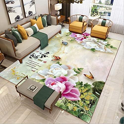 Couleur Grand Tapis Mode Simple Paysage de Style Chinois Salon Salon Chambre décorative Tapis Tapis moma Moquette Salon Lavable140x200CM
