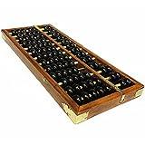 Ábaco chino, vintage, de 13 dígitos, de madera, herramienta manipulativa de aprendizaje de matemáticas para niños
